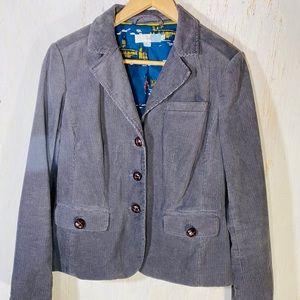 Boden Gray corduroy blazer jacket